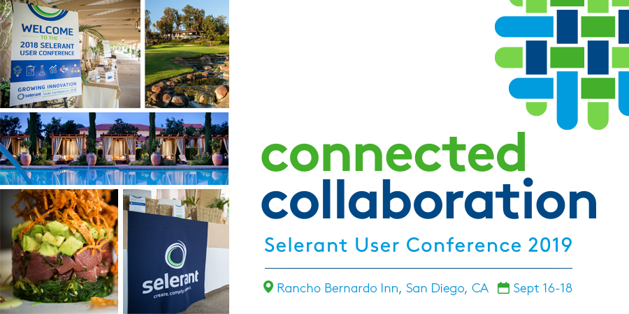 Join us September 16-18 at Selerant's 2019 User Conference
